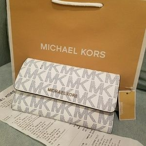 new wallet trifold authentic clutch michael kors